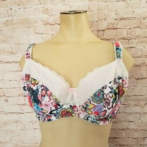 Freya 34H Underwire Floral Lace Bra Lightly Lined